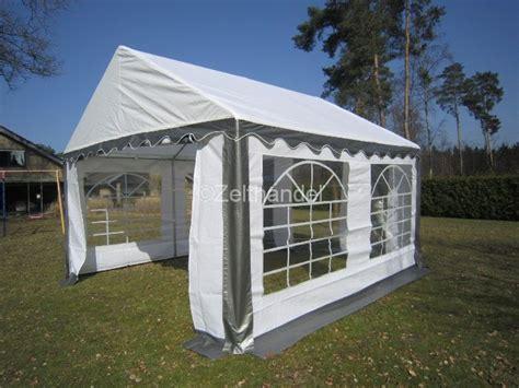 pavillon 2 5x4 partyzelt pavillon zelt 5x4 m 4x5m grau weiss neu ebay