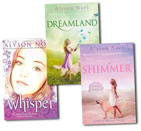 the shimmering books a bloom novel series collection alyson noel 3 books