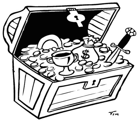 treasure chest coloring page coloring com