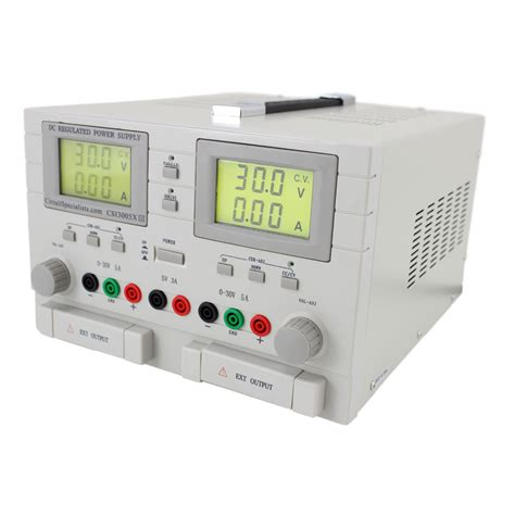 triple output dc bench power supply 0 30v 0 5ax 2 5v