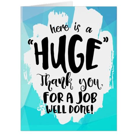 Oversized Thank You Cards