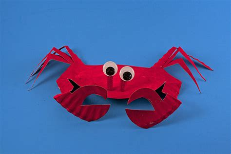 Crab Paper Plate Craft - paper plate sea crab 183 kix cereal