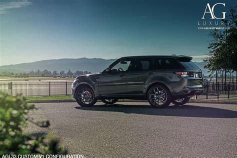 luxury black range rover ag luxury wheels range rover sport forged wheels
