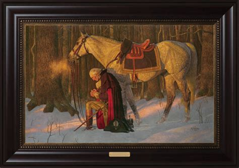 the prayer at valley forge painting by arnold friberg