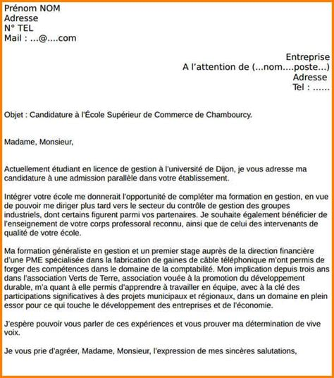 Lettre Motivation Ecole De Patisserie 10 Exemple Lettre De Motivation Pour 233 Cole Format Lettre