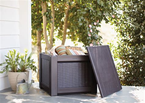 Small Patio Storage Box by Rubbermaid Deck Boxes For Patio Storage Garden Club