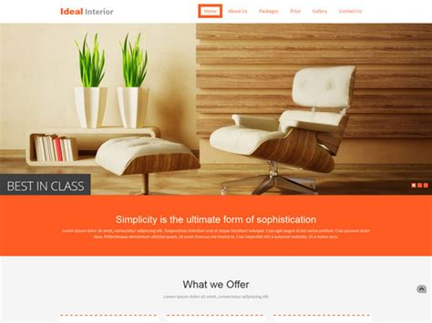 furniture design templates 19 free interior design and furniture website templates