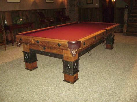 custom made pool table by braddee metal works design