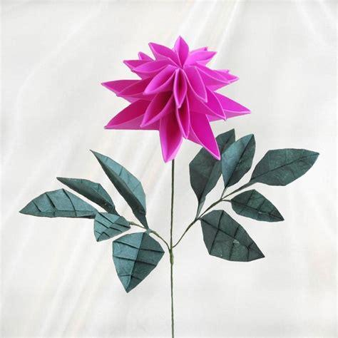 Origami Dahlia - quot origami dahlia flower quot paper flowers