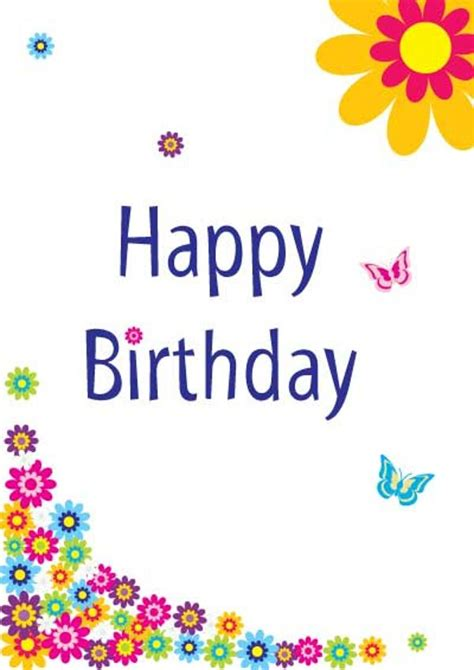 Free Birthday Card Happy Birthday Free Printable Cards Pictures Reference