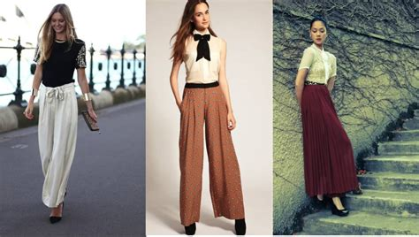Pastel Blouse Muslim Rok Maxi Flowy style trend how to wear palazzo touch18