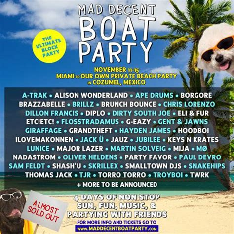 mad decent boat party mad decent announces jaw dropping mad decent boat party