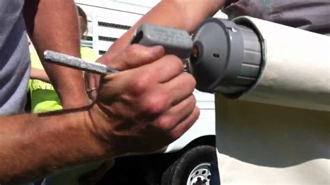 How To Install Rv Awning Fabric Replacing The Awning Fabric On An A Amp E Model 8500 Rv Awning