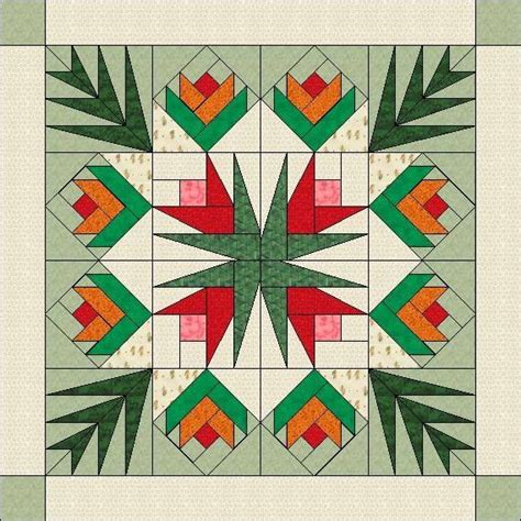 printable paper quilt patterns flowers and palm leaves paper pieced 1 patterns