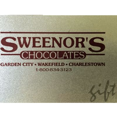 Gift Card Denominations - sweenor s chocolates sweenor s chocolates gift card multiple denominations