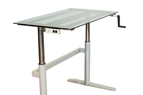 glass top adjustable height desk rebel desk adjustable height standing desk with glass top