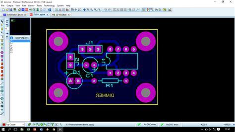 membuat lu running led membuat layout pcb rangkaian dimmer dan rangkaian running