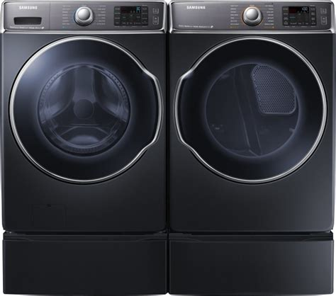Front Load Washer With Pedestal Samsung Wf56h9100ag Front Load Washer Amp Dv56h9100gg Gas
