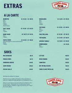 a la carte menu sample pictures to pin on pinterest