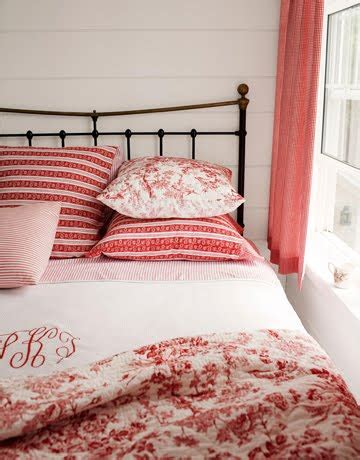 red toile bedroom ticking and toile lovely farmhouse q s answered