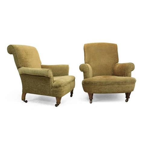armchairs upholstered pair of victorian upholstered armchairs at 1stdibs