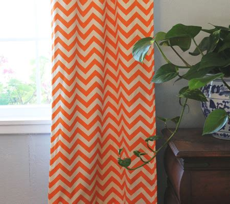 orange chevron curtains chic chevron nursery ideas disney baby
