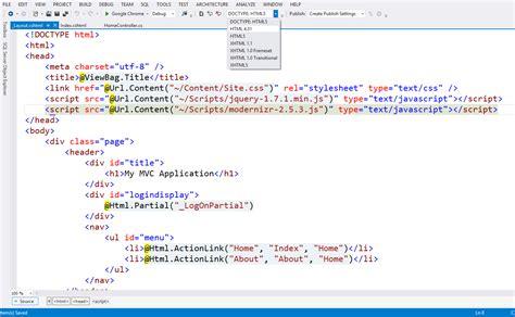 html5 asp net mvc 4 layout changing stack overflow asp net mvc generate html 4 semantics in mvc stack
