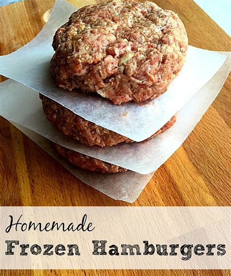 frozen hamburger patties frugally