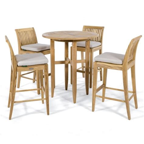Teak Bar Table And Stools by Laguna Teak Bar Stool And Table Set Westminster Teak