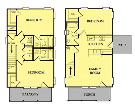 row house floor plans home ideas