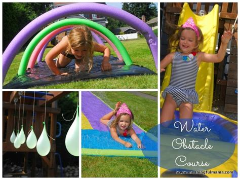 Backyard Kid Activities by Make A Backyard Water Obstacle Course