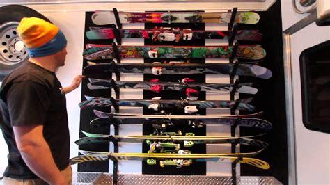 Garage Ski Storage Ideas Diy Ski Rack By Adventurerig