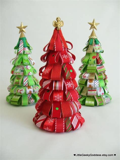 christmas candy cane ribbon tree one tree only