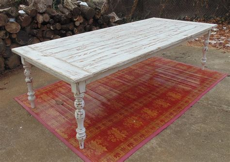 hand crafted reclaimed wood french country farmhouse table