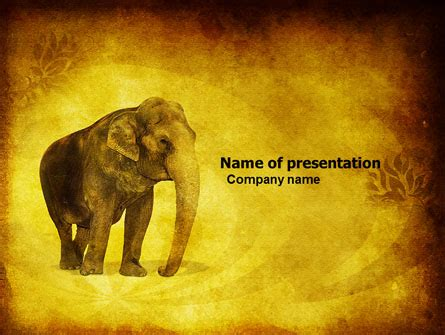Indian Elephant Presentation Template For Powerpoint And Keynote Ppt Star Elephant Powerpoint Template