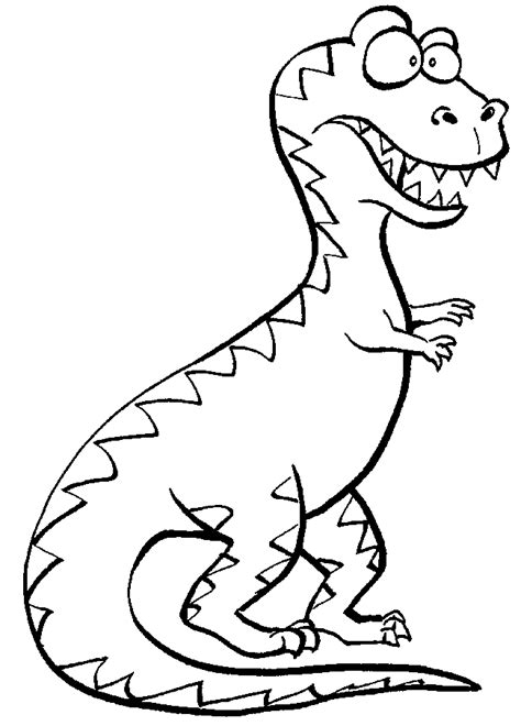 cartoon t rex coloring page trex coloring pages best coloring pages for kids