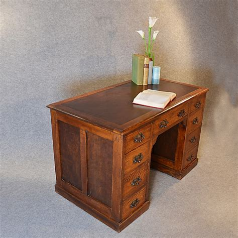 antique study table antique desk oak pedestal writing