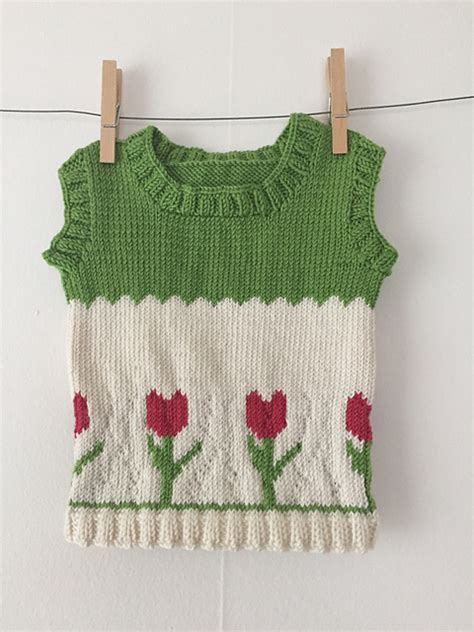 sweater vest baby knitting patterns galore tulip sweater vest for baby