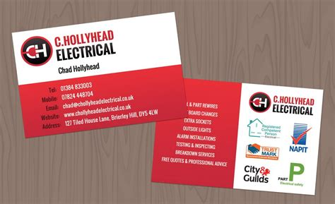 Business Cards Electrical Templates Free by C Hollyhead Electrical Business Cards Design Getsited