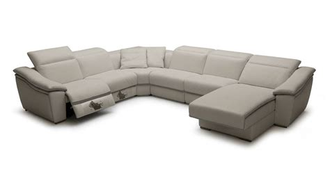 Sofa Sectionals With Recliners Refined Genuine Leather Sectional Plano V Jasper