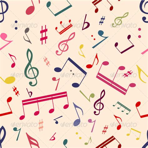 notes pattern background musical notes seamless pattern graphicriver