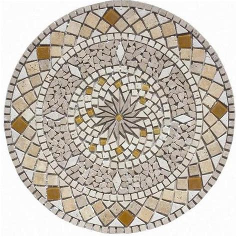 shop floors 2000 medallions multi colored natural stone mosaic indoor outdoor floor tile common