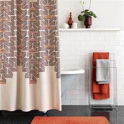 retro style shower curtain from cb2 decoist