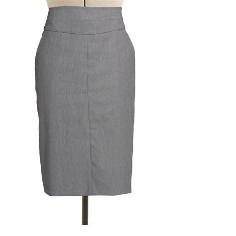 gray high waisted skirt redskirtz