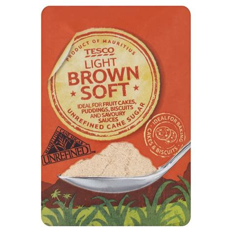 Light Or Brown Sugar by Tesco Light Soft Brown Sugar 500g