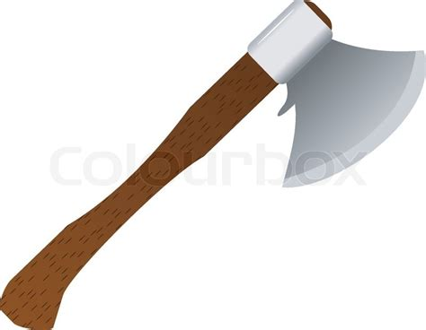 The Simple Got The Axe by Vector Illustration Of An Ax With A Wooden Handle Stock