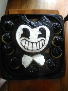 bendy   ink machine cake party ideas cake birthday cake cupcake cakes