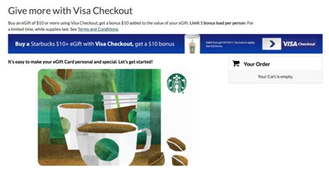 E Gift Cards Visa - deal how to score 20 of starbucks egift cards for only 10 points miles martinis