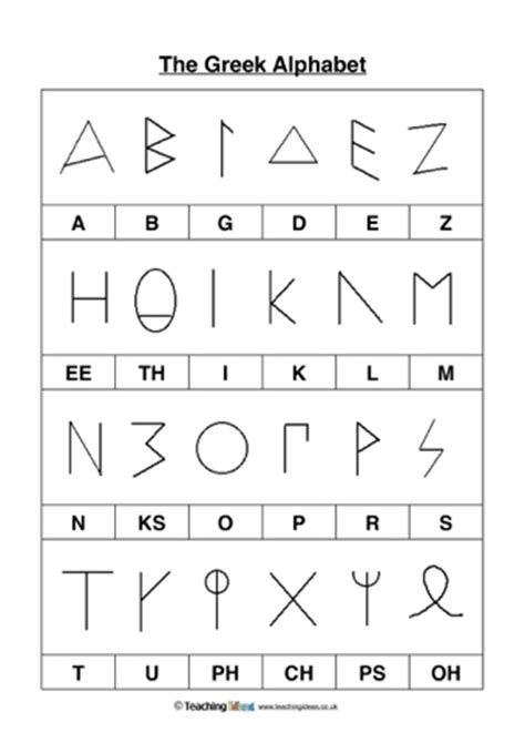 alphabet worksheets ks2 the greek alphabet teaching ideas