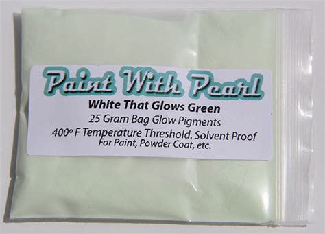 glow in the paint lasting white to green glow in the paint kustompearls